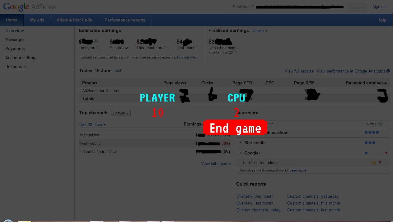 Image result for Memenangkan Game of Adsense