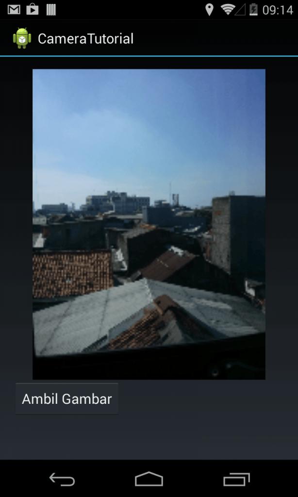 Gambar dari kamera masuk ke aplikasi