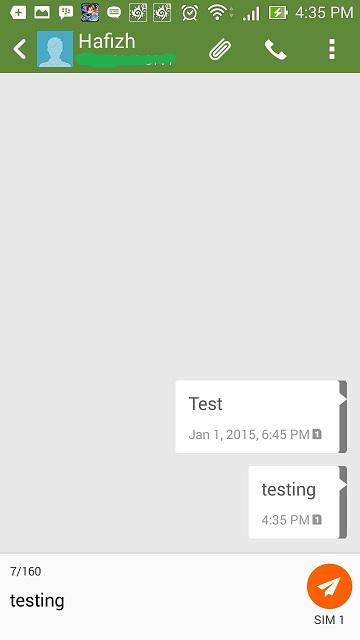 Mengirim SMS lewat Intent SendTo atau View, membuka aplikasi SMS default Android