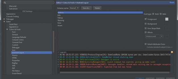 Android Studio : Mengubah Warna Pada LogCat Output