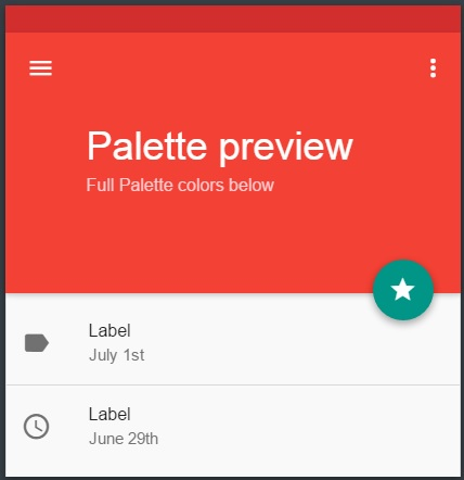 Material Design color theme