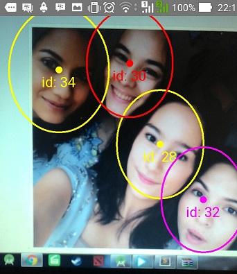 Multiple Face Detection menggunakan Google Mobile Vision library | (c) instagram @tatjanasaphira