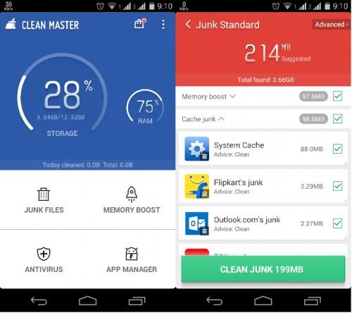Contoh aplikasi untuk clear cache Android