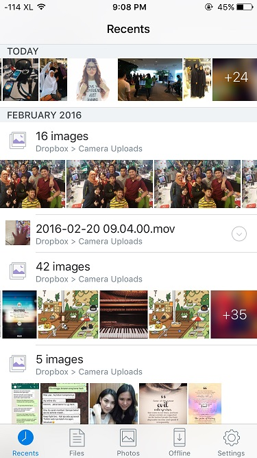 Backup foto di iPhone dengan DropBox