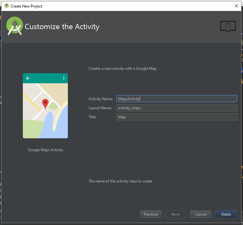 Memberikan nama pada Android Maps Activity