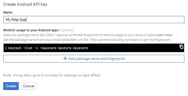 Memberi nama pada API key