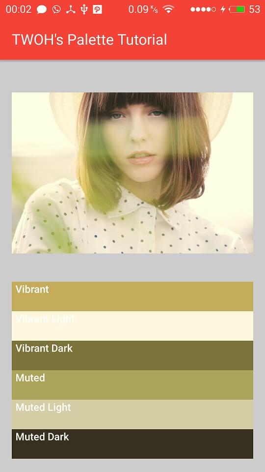 Palette dari gambar tema Kuning