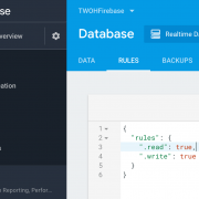 Firebase Console - Database Rules