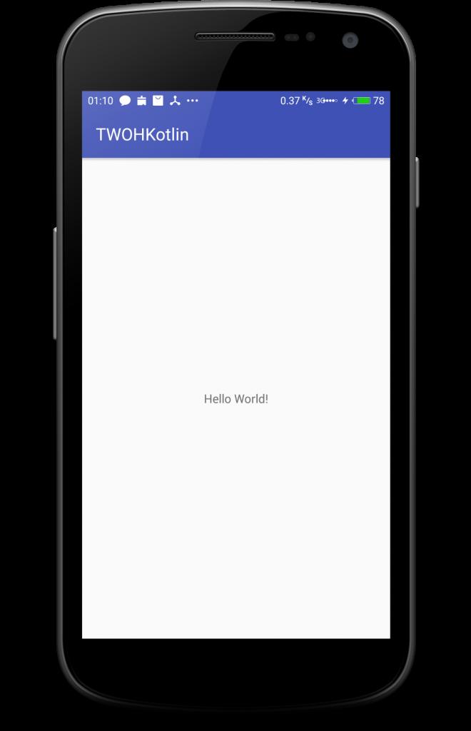 Aplikasi Hello World Kotlin